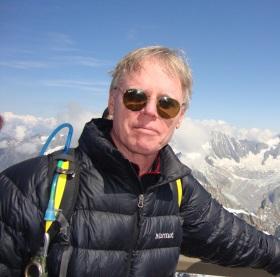 Hiscoe on Mt. Blanc